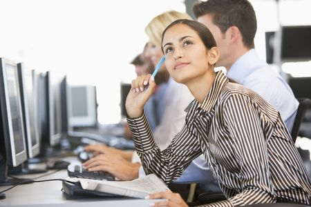 stock trader: Stock Trader Deep In Thought