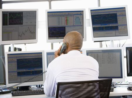 trader: Stock Trader On The Phone