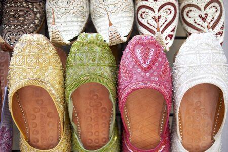 souk: Dubai,Colourful Slippers In Souk