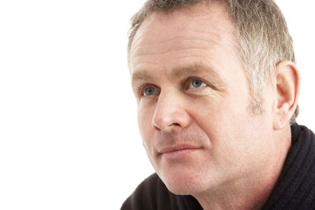 mid adult men: Portrait Of Middle Aged Man Stock Photo