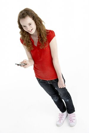 Young Girl With Mobile Phone photo