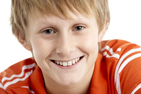 12 year old: Portrait Of Smiling 12 Year Old Boy