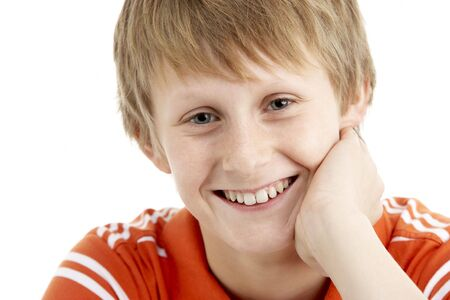 boy 12 year old: Portrait Of Smiling 12 Year Old Boy