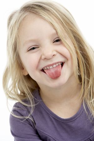 elementary age girls: Portrait Of Smiling 4 Year Old Girl Stock Photo