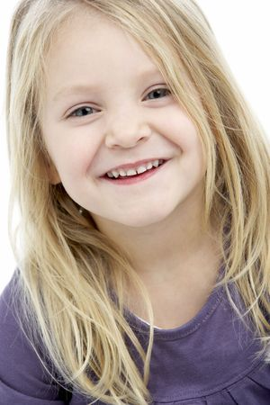 mischievious: Portrait Of Smiling 4 Year Old Girl Stock Photo