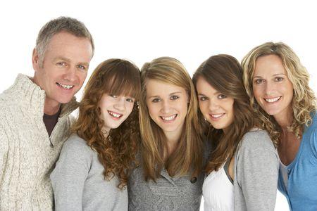 Family Sitting On Sofa photo