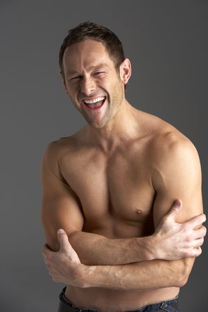 Bare Chested Young Man Stock Photo - 5516275