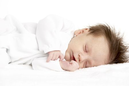 Peaceful Sleeping Newborn Baby photo