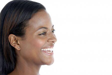 Studio Portrait Of Smiling Woman photo