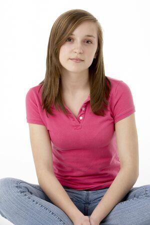 16 year old girls: Teenage Girl Sitting In Studio