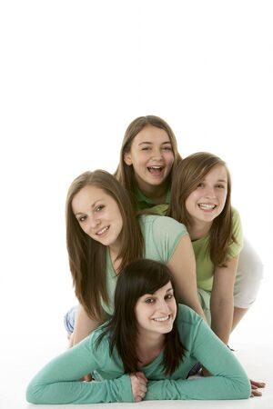 Group Of Teenage Girlfriends Stock Photo - 5515649