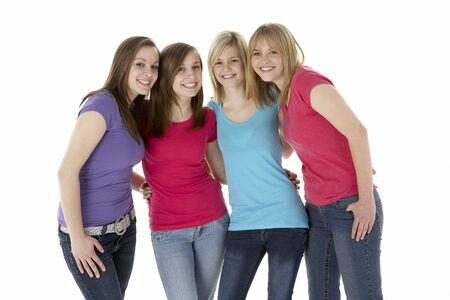 Group Of Teenage Girlfriends Stock Photo - 5515637