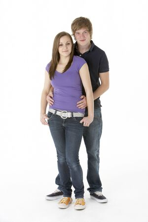 19 year old boy: Teenage Couple In Studio