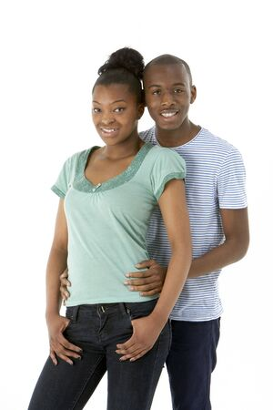 17 year old: Teenage Couple In Studio