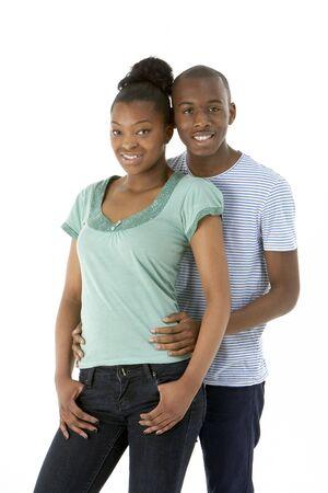 18 year old: Teenage Couple In Studio