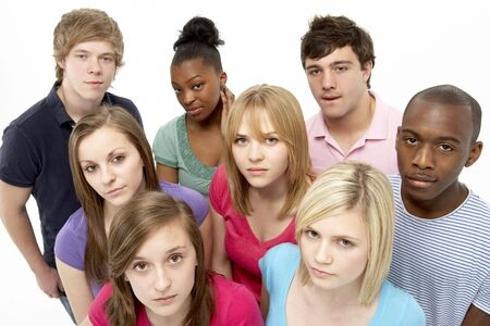 Group Of Teenage Friends In Studio Stock Photo - 5516995