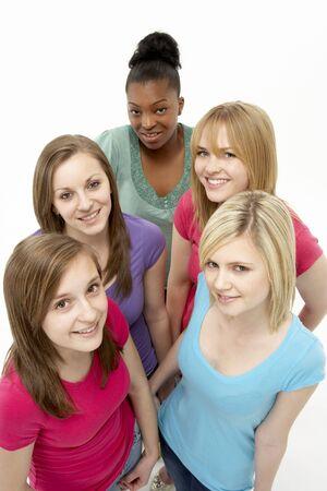Group Of Teenage Girlfriends photo