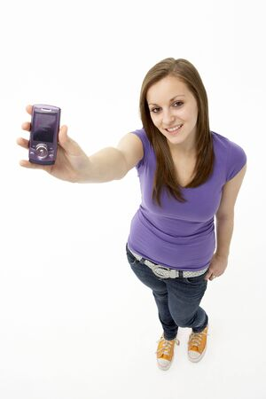 sixteen year old: Teenage Girl With Mobile Phone
