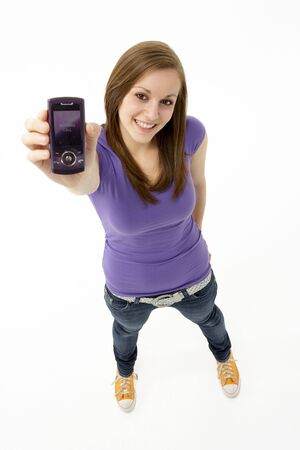 Teenage Girl With Mobile Phone Stock Photo - 5515567