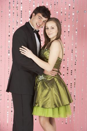 Young Couple Dressed For Party photo