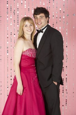 Jeune Couple Dressed For Party Banque d'images - 5516824