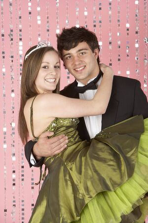 17 year old: Young Couple Dressed For Party