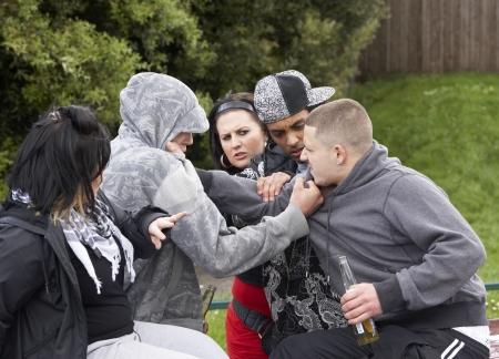Gang jongeren Fighting