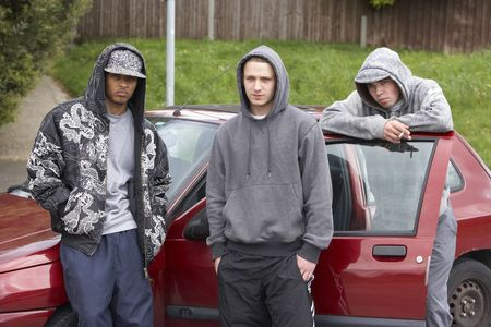 19 years old: Group Of Young Men With Cars