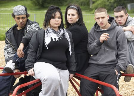 Group Of Young People In Playground photo