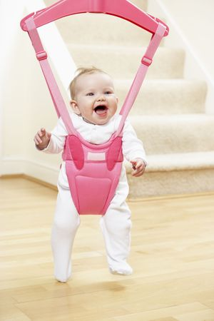 five month old: Baby In Bouncer