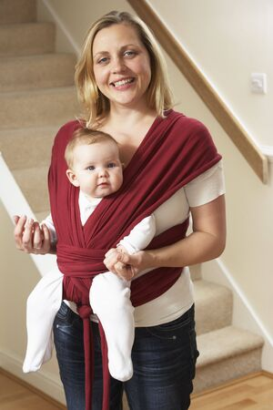 carriers: Baby In Sling With Mother