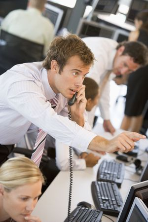 stock trading: Stock Trader On The Phone
