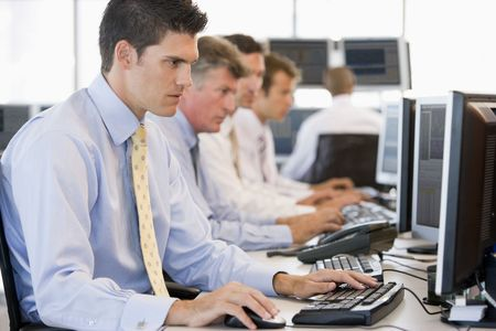 Stock Traders At Work photo