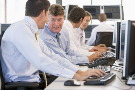 stock traders: Stock Traders At Work