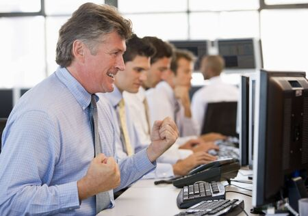 deal making: Stock Traders At Work