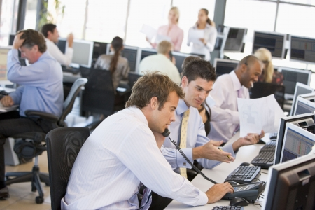 Widok z zajęty Office Traders zapasów