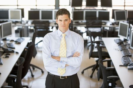 agente comercial: Retrato de un comerciante de stock