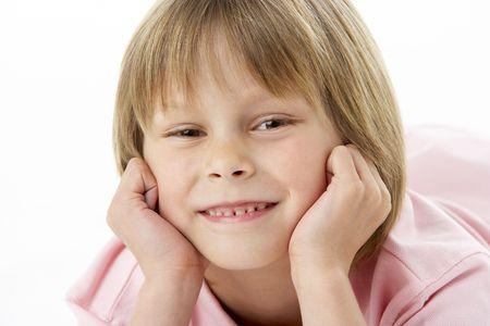 Studio Portrait of Smiling Boy photo