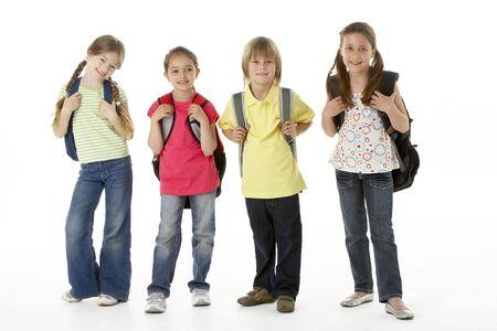 Group of children in Studio photo
