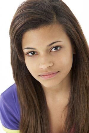 Studio Portrait Of Teenage Girl photo