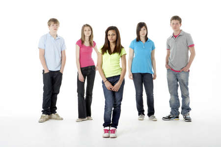 Group of Teenage Friends in Studio Stock Photo - 5631226