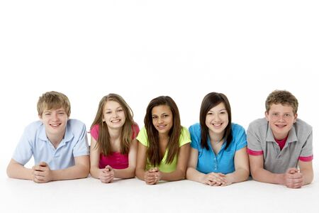 Group of Teenage Friends in Studio  photo