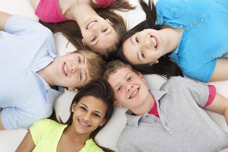 Group of Teenage Friends in Studio Stock Photo - 5631469