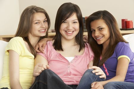 Teenage Girlfriends at Home photo