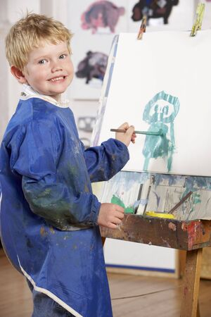 Young Boy Painting photo
