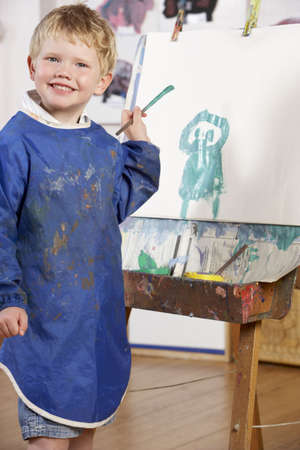 Young Boy Painting Stock Photo - 5633350