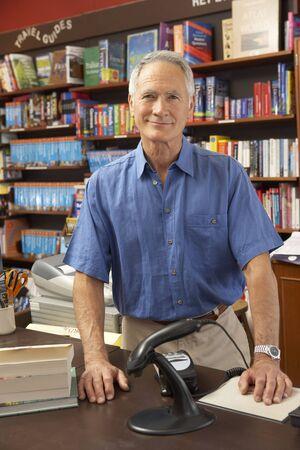 proprietor: Male bookshop proprietor Stock Photo