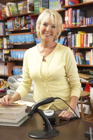 Female bookshop proprietor photo