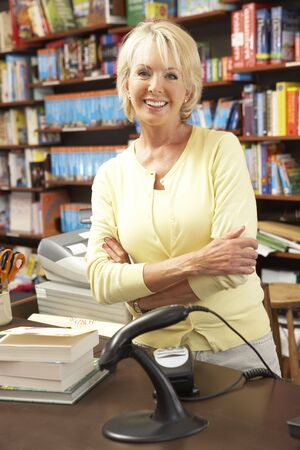 proprietor: Female bookshop proprietor