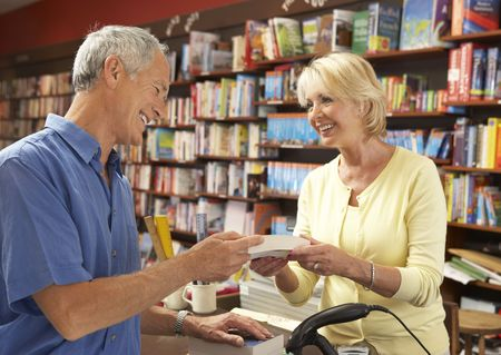Male customer in bookshop Stock Photo - 5633352